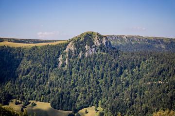 Paysage autour du Puy de Sancy et du Mont Dore en Auvergne