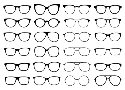 Glasses vector collection. Sunglasses set