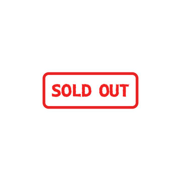 Sold out icon. Vector illustration