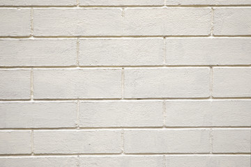 Old white brick wall background or texture.