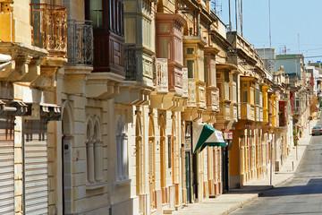 Typowa zabudowa ulicy maltańskiej