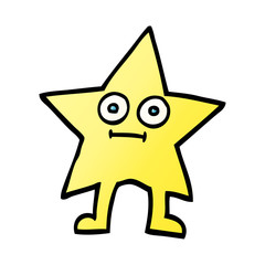 vector gradient illustration cartoon star character