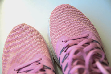 Sports shoe. Exercise now to keep healthy. Sport and fitness concept. Sport objects background.