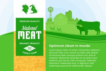 Vector meat illustration