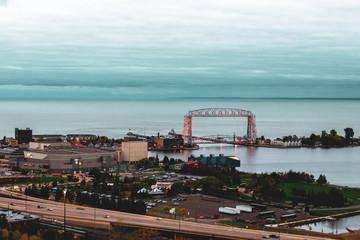 Duluth Lift Bridge in Fall