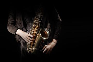 Keuken foto achterwand Muziek Saxophone player jazz musician saxophonist
