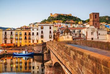 Keuken foto achterwand Europese Plekken Beautiful view of Bosa town, Sardinia island, Italy. Travel destination