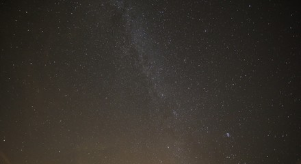 Photograph of the starry sky and the Milky Way