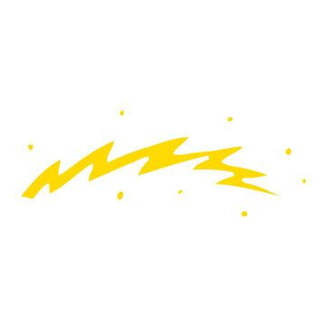 flat color illustration cartoon lightning bolt