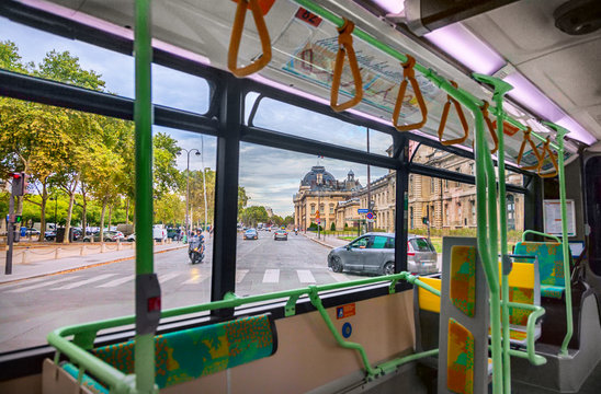 Interior of city bus