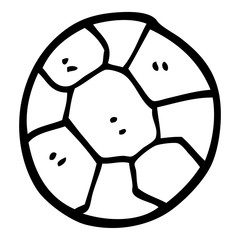 black and white cartoon soccer ball