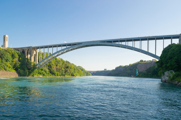 The Niagara Falls International Rainbow Bridge is an arch bridge across the Niagara River.