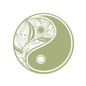 Herbal yin and yang Sign