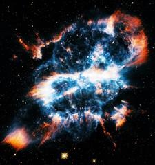 Color-Enhanced Gum 47 Spiral Planetary Nebula Universe Background Wallpaper Original Image by NASA