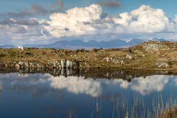 Ireland, Galway, Letterfrack, Connemara National Park, 3 October 2018, Diamond Hill.Diamond Hill is a popular walking destination and attracts Irish hikers and foreign tourists.