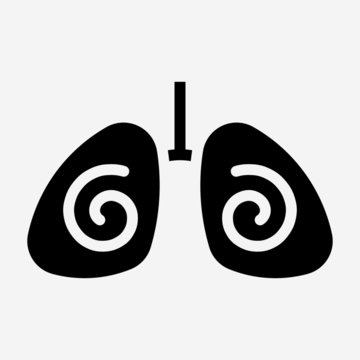 Glyph lung pixel perfect vector icon