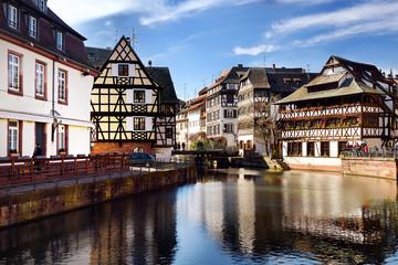 "Famous district ""La Petite France"" in Strasbourg, Alsace, France."