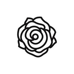 Rose vector icon