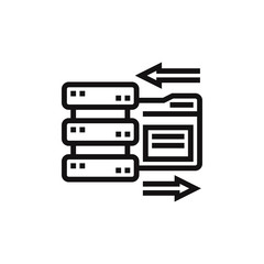 Data storage vector icon