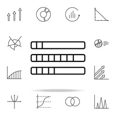 bar chart line icon. Chart and diagram icons universal set for web and mobile