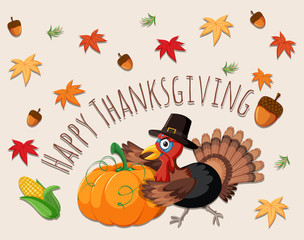 Happy thanksgiving concept card