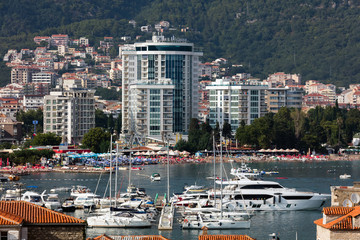 The Budva Riviera is a 35 km long strip of the Adriatic coast surrounding the town of Budva in western Montenegro.