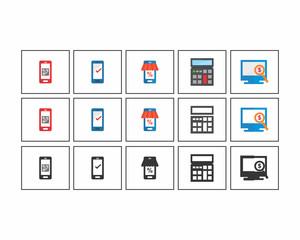 technology image vector icon logo set