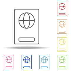 passport icon. Elements of Web in multi colored icons. Simple icon for websites, web design, mobile app, info graphics