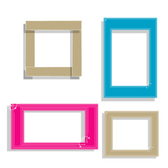Cute Hand drawn doodle frame template.cartoon style.for photos,picture.isolated background