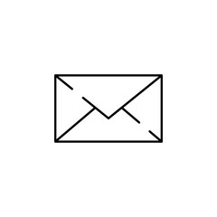email, envelope, mail icon. Element of Christmas for mobile concept and web apps illustration. Thin line icon for website design and development, app development. Premium icon