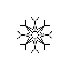 flake, snow icon. Element of Christmas for mobile concept and web apps illustration. Thin line icon for website design and development, app development. Premium icon