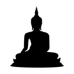 Buddha statue icon. Vector concept illustration for design.