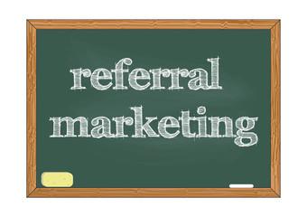 Referral marketing chalkboard Vector illustration for design