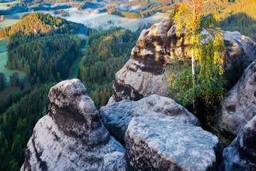 Marianina lookout from Vilemina view point, Jetrichovice region, Czech Switzerland, Czech republic