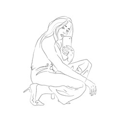 sketch portrait of a woman