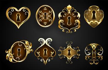 antique keyholes