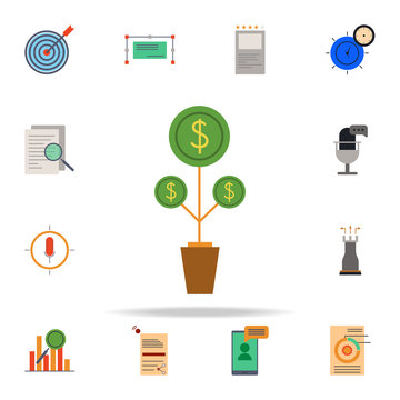 colored lead nurturing icon. marketing icons universal set for web and mobile