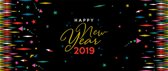 Happy New Year 2019 holiday web banner