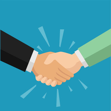 Two people shaking hand for agreement