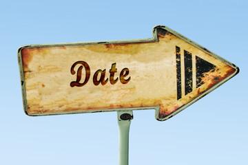 Schild 328 - Date