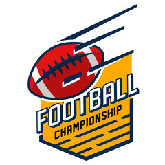 Colorful american football championship logo