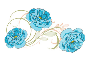 Cute abstract background with flowers of roses.