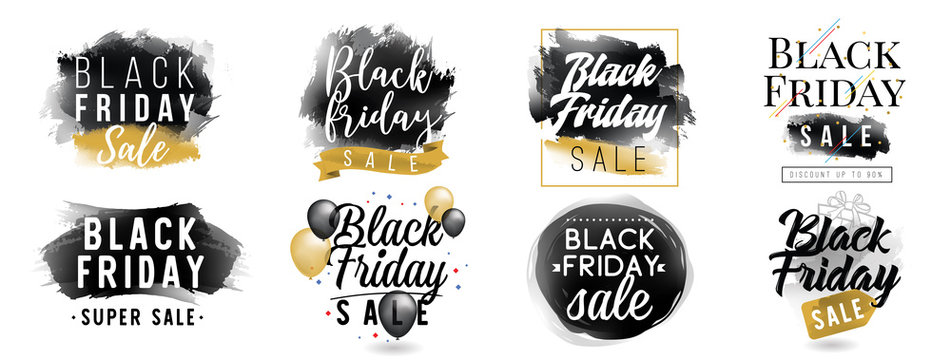 Black friday sale. Vector typography.
