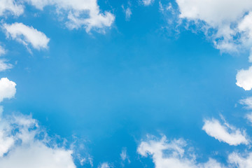 Beautiful blue sky with cloud and copy space