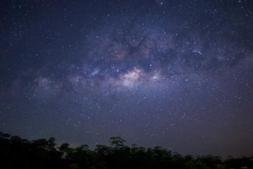 milky way on night sky.