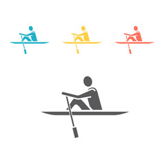 Rowing flat icon, Vector illustration for web .