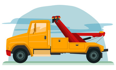 Vector illustration of tow truck