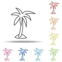 palm icon. Elements of Camping in multi colored icons. Simple icon for websites, web design, mobile app, info graphics