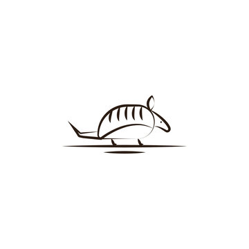 armadillo desert animal icon. Element of desert icon for mobile concept and web apps. Hand draw armadillo desert animal icon can be used for web and mobile