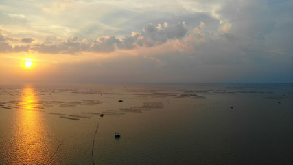 Beautiful views of the sea at sunset